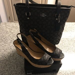Authentic Coach bag w/matching shoes
